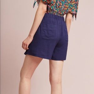 Anthropologie Shorts - Hei Hei navy skort with bow detail